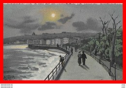 CPA FANTAISIES. Illustrateur A. Coppola.  Napoli, Via Caracciolo Au Crépuscule, Animé...CO 876 - Illustrators & Photographers