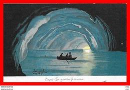 CPA FANTAISIES. Illustrateur A. Coppola.  Capri, La Grotta Azzurra, Barque...CO 875 - Autres Illustrateurs