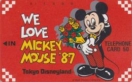TC Ancienne NEUVE JAPON / 110-33345 - DISNEY - DISNEYLAND 1987 - ** WE LOVE MICKEY ** - JAPAN MINT Phonecard - Disney