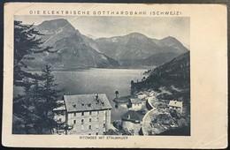 Die Elektrische Gotthardbahn . RITOMSEE MIT STAUMAUER - TI Tessin