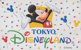 Télécarte JAPON / 110-206356 - DISNEY - DISNEYLAND - MICKEY MOUSE & Ballon Balloon- JAPAN Phonecard - Disney