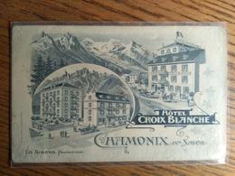 Carte Postale Chamonix Haute Savoie Hotel Croix Blanche - Chamonix-Mont-Blanc