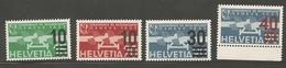 Schweiz 1935-38 ; MNH / ** ; 4 Different Airmail ;   (ch195) - Poste Aérienne