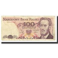 Billet, Pologne, 100 Zlotych, 1988, 1988-12-01, KM:143d, TB - Pologne