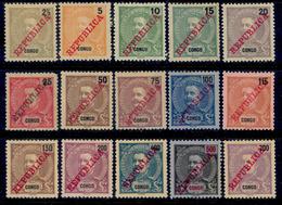 ! ! Congo - 1911 King Carlos (Complete Set) - Af. 60 To 74 - MH - Congo Portugais