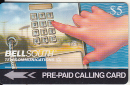 USA - Bellsouth Touchtone Phone, Bellsouth Technical Trial Telecard, First Issue $5, Tirage 15000, 08/94, Mint - [3] Magnetic Cards