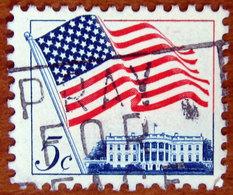 1963 USA Stati Uniti  Bandiera Flag Over White House  - 5 C Usato - Stati Uniti