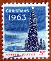 1963 USA Stati Uniti  Natale National Christmas Tree And White House  - 5 C Usato - Stati Uniti