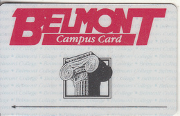 USA - Dominion Bank, Belmont College, Trial Card, Tirage 3000, Mint - [3] Magnetic Cards