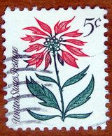 1964 USA Stati Uniti  Fiori Natale Christmas Poinsettia (Euphorbia Pulcherrima)  - 5 C Usato - Stati Uniti