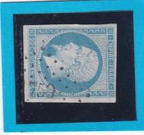N° 14A F  Bleu Laiteux   PC  1759    LONS-le-SAUNIER  ( 38 )   JURA  -  REF 14112 + Variété - 1853-1860 Napoleon III