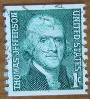 1968 USA Stati Uniti  Thomas Jefferson   President  - 1 C Usato - Stati Uniti