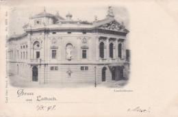 268897Gruss Aus Laibach, Landestheater 1898.(siehe Ecken) - Slovenia