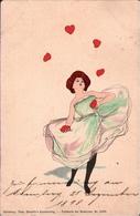 ! 1898 Ansichtskarte, Künstlerkarte Theo Stroefers Kunstverlag Nr.5533, Unsigniert, Stil Von Raphael Kirchner, Liebe - Illustrateurs & Photographes
