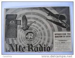Alte Radio Hydravion   - 1927 Ancienne Coupure De Presse Italienne - Document Historique Coupure De Presse - GPS/Avionique