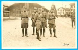 CPA AK Suisse Carte Photo R. Sollberger Hinter D. Kaserne THUN BE Berne ** Militaire MILITARIA Armée - BE Berne