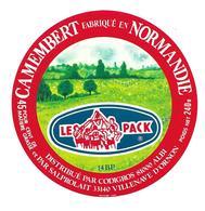 ETIQUETTE De FROMAGE..CAMEMBERT Fabriqué En NORMANDIE..Le Pack..Distribué Par CODIGROS à ALBI - Cheese
