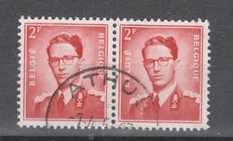 COB 925 En Paire Oblitération Centrale ATHUS - 1953-1972 Glasses