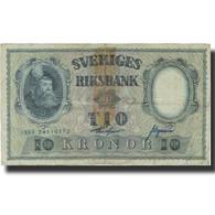 Billet, Suède, 10 Kronor, 1960, 1960, KM:43h, B - Suède