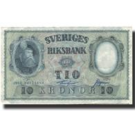 Billet, Suède, 10 Kronor, 1960, 1960, KM:43h, TTB - Suède