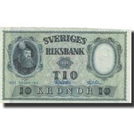 Billet, Suède, 10 Kronor, 1957, 1957, KM:43e, TTB - Suède