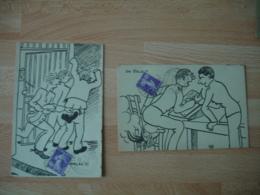 1928 Ecole Polytecnique Obliteration Sur Carte Dessin Humoristique De L Ecole - 1921-1960: Période Moderne