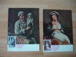 1953 Lot De  C M Cm Carte Maximum Croix Rougeretour Bapteme Vigee - Maximumkaarten