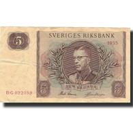 Billet, Suède, 5 Kronor, 1955, 1955, KM:42b, TTB - Suède