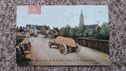CPA CIRCUIT DE LA SARTHE SORTIE DE ST MARS LA BRIERE LV CIE  AQUA PHOTO AUTO BEAU PLAN 1906 - Rallyes