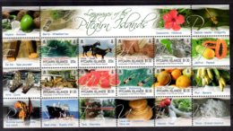 2016 Pitcairn Language Of Pitcairn MS MNH** MiNr. 983 - 990 Fruits, Papaya, Avocado, Melon, Swiming, Goat, Sea Life - Pitcairn