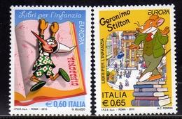 ITALIA REPUBBLICA ITALY REPUBLIC 2010 LIBRI PER L'INFANZIA PINOCCHIO GERONIMO STILTON SERIE COMPLETA FULL SET MNH - 2001-10:  Nuovi