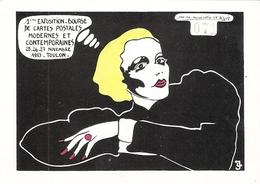 Dessin De Jacques Lardie Salon De La Carte Postale Toulon 100 Exemplaires  Carte Numérotée 71 - Lardie