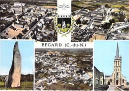 22 - BEGARD : Multivues - CPSM Village ( 4.800 Habitants ) Dentelée Colorisée Grand Format 1969 - Côtes D'Armor - France