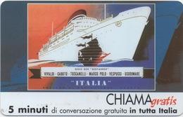 "Telecom Italia : Croisière ""SERIE SEEFAHRER"" : Chiama Gratis 5 Minuti (non-utilisée) - Boats"