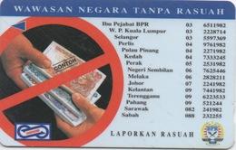 Télécarte Malaisie : Billets De Banque : Surfaces Endommagées - Francobolli & Monete