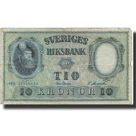 Billet, Suède, 10 Kronor, 1953, 1953, KM:43a, TB - Suède