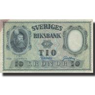 Billet, Suède, 10 Kronor, 1954, 1954, KM:43b, TTB - Suède