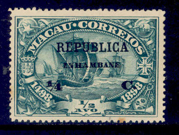 ! ! Inhambane - 1913 Vasco Gama On Macau 1/4 C - Af. 55 - MH - Inhambane