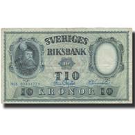 Billet, Suède, 10 Kronor, 1955, 1955, KM:43c, B+ - Suède