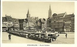 67 STRASBOURGCARTE PHOTO LA PLACE KLEBER VOITURES D EPOQUE SUR LA PLACE - Strasbourg