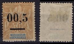 MADAGASCAR  52 * MLH  Type I (0 Minces) + Surcharge Décalée - Madagascar (1889-1960)