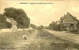 93 GARGAN LA VOIE FERRE DANS L AVENUE CAMILLE DESMOULINS - Livry Gargan