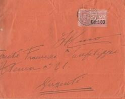 825 - Busta Espresso Da Napoli A Girgenti Del 1922 Con Tariffa Di Lire 1,80 + Cent 60 Espresso  - - Posta Espresso