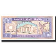 Billet, Somaliland, 10 Shillings = 10 Shilin, KM:15, NEUF - Somalie