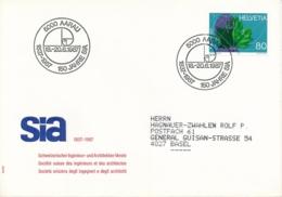 1986 -  Sonderstempel - 5000 AARAU 1837-1987 150 Jahre SIA - Marcophilie