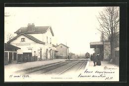CPA Villecresnes, La Gare, La Gare - Villecresnes