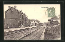 CPA Folembray, Arrivee De Train En Gare - Non Classificati