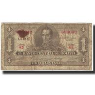 Billet, Bolivie, 1 Boliviano, Undated (1928), KM:128a, TB - Bolivie