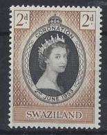 """SWAZILAND....QUEEN ELIZABETH II.(1952-NOW).."""" 1953.""""...OMNIBUS.....CORONATION ....2d.....MNH.. - Königshäuser, Adel"""