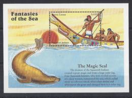 SIERRA LEONE..QUEEN ELIZABETH II.(1952-NOW)..THE MAGIC SEAL......FANTASIES OF THE SEA...MINI SHEET...MH.. - Vignettes De Fantaisie